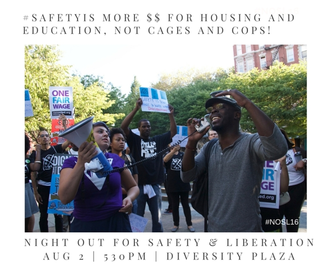 #SafetyIs More $$ for housing and education, not cages and cops